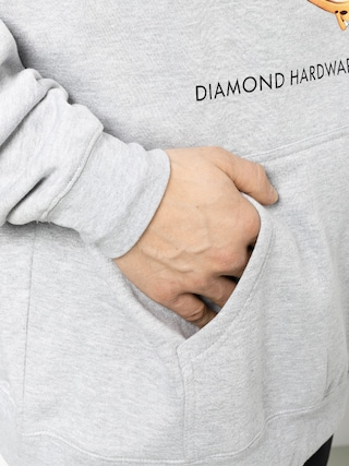 Diamond Supply Co. Hardware Ring HD Hoodie (heather grey)