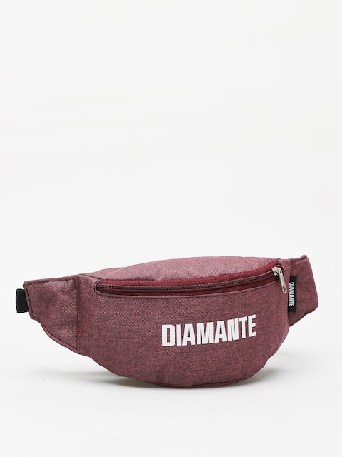 Diamante Wear White Logo Bum bag (burgundy)