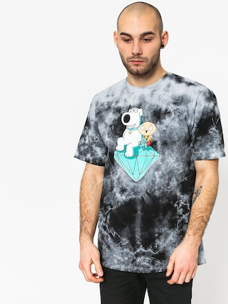 Diamond Supply Co. Stewie And Brian Crystal Wash T-shirt (black)