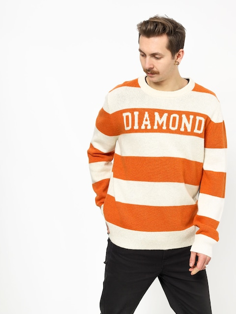Diamond Supply Co. Striped Wool Sweater (orange)