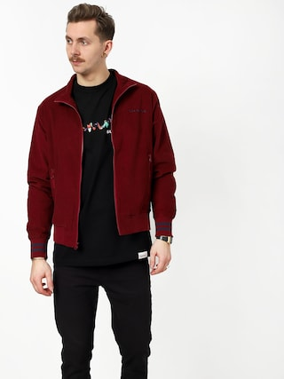 Diamond Supply Co. Corduroy Track Jacket (burgundy)