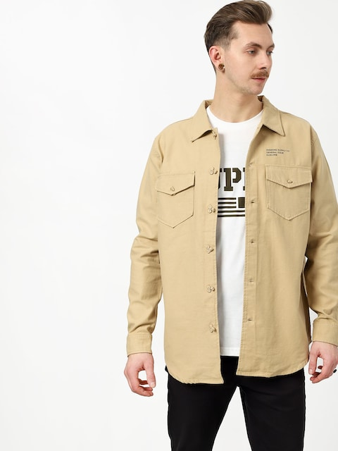 Diamond Supply Co. Military Ls Shirt (tan)