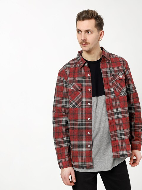 Brixton Bowery Flannel Ls Shirt (brick/steel)