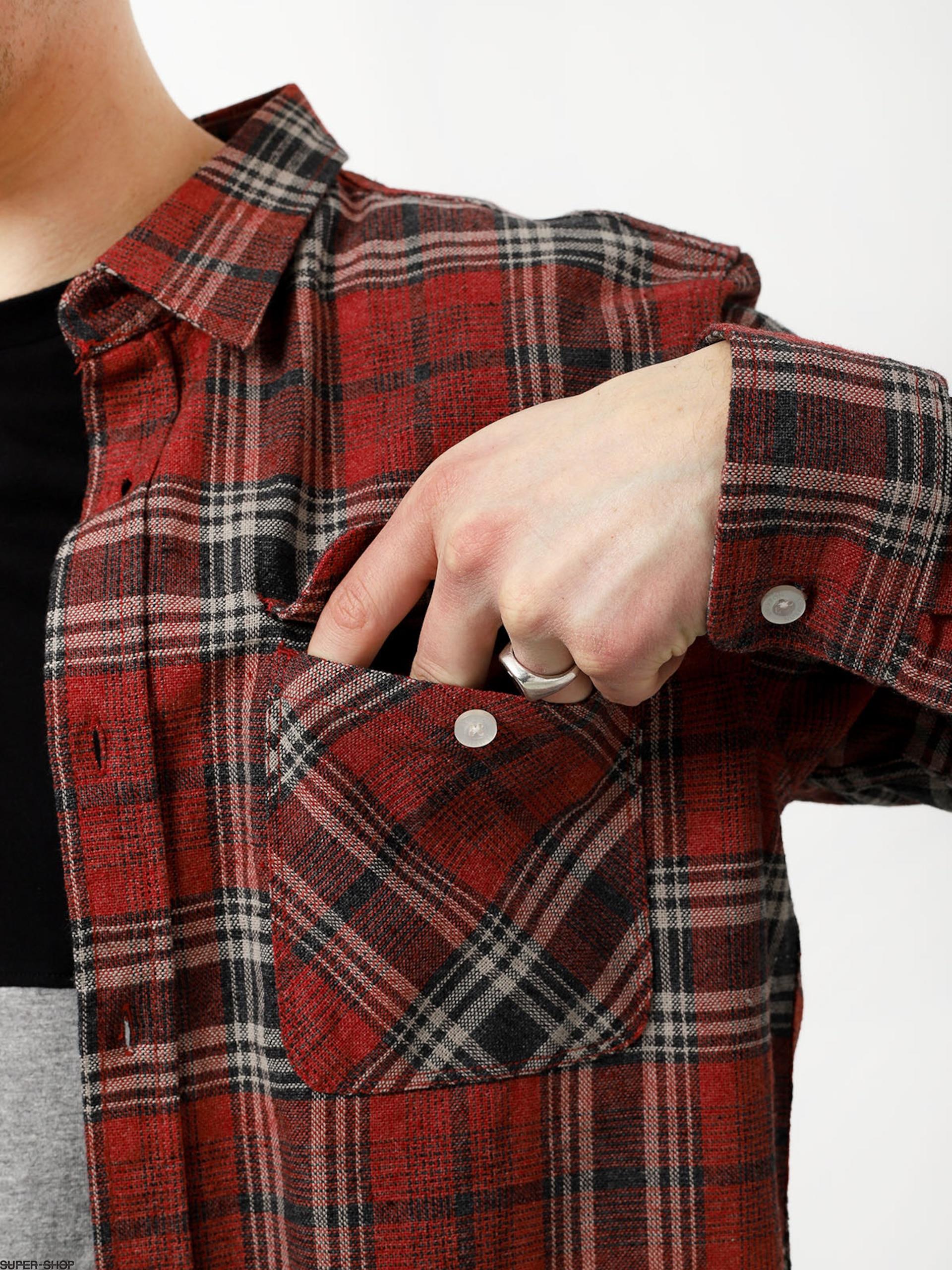 13ab713b48f3 Brixton Bowery Flannel Ls Shirt (brick/steel)