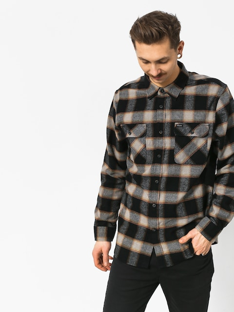 Brixton Bowery Flannel Ls Shirt (black/cream)