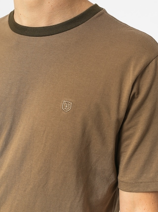 Brixton B Shield Prt T-shirt (dusty olive)