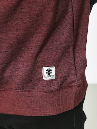 Element Meridian Block Crew Sweatshirt (oxblood red)
