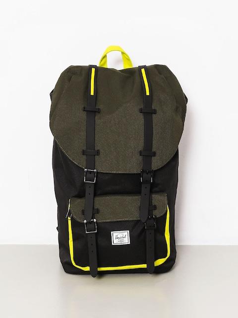 Herschel Supply Co. Backpack Little America (black/forest night/evening primrose)