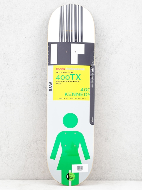 Girl Skateboard Kennedy Kodak Deck (white/black/silver)