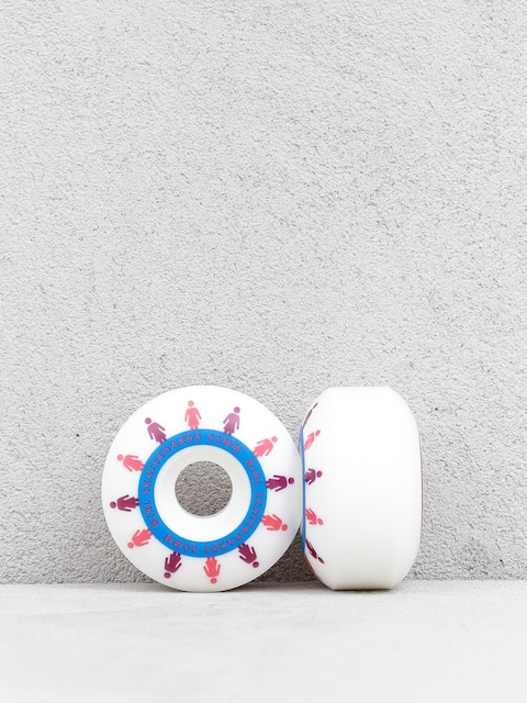 Girl Skateboard Mirage Staple Wheels (white/coral)