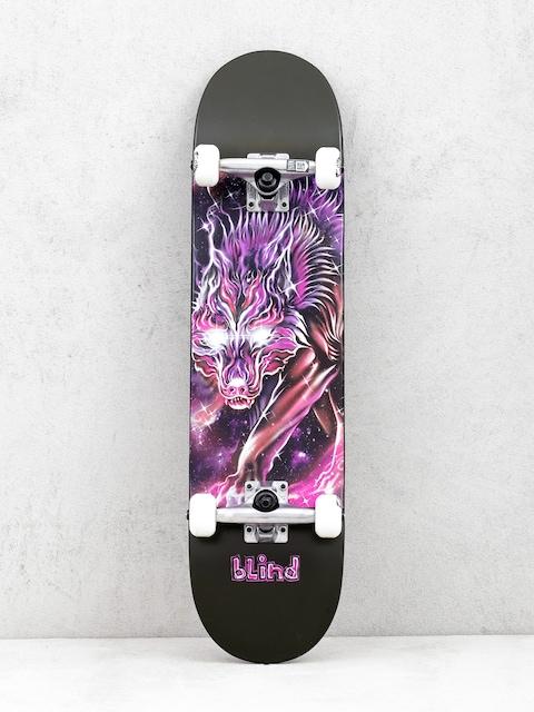 Blind Cosmic Wolf Skateboard (black/purple)