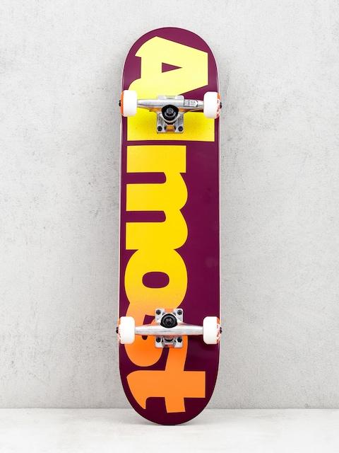 Almost Straight Faded Skateboard (maroon)