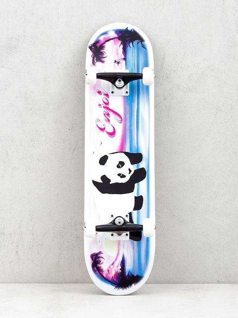 Enjoi Tropical Airbrush Panda Skateboard (white/pink/blue)