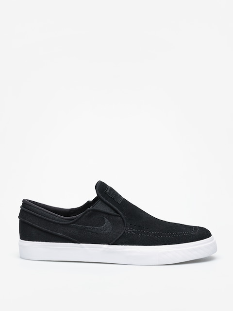 Nike SB Zoom Stefan Janoski Slip Shoes (black/black white)