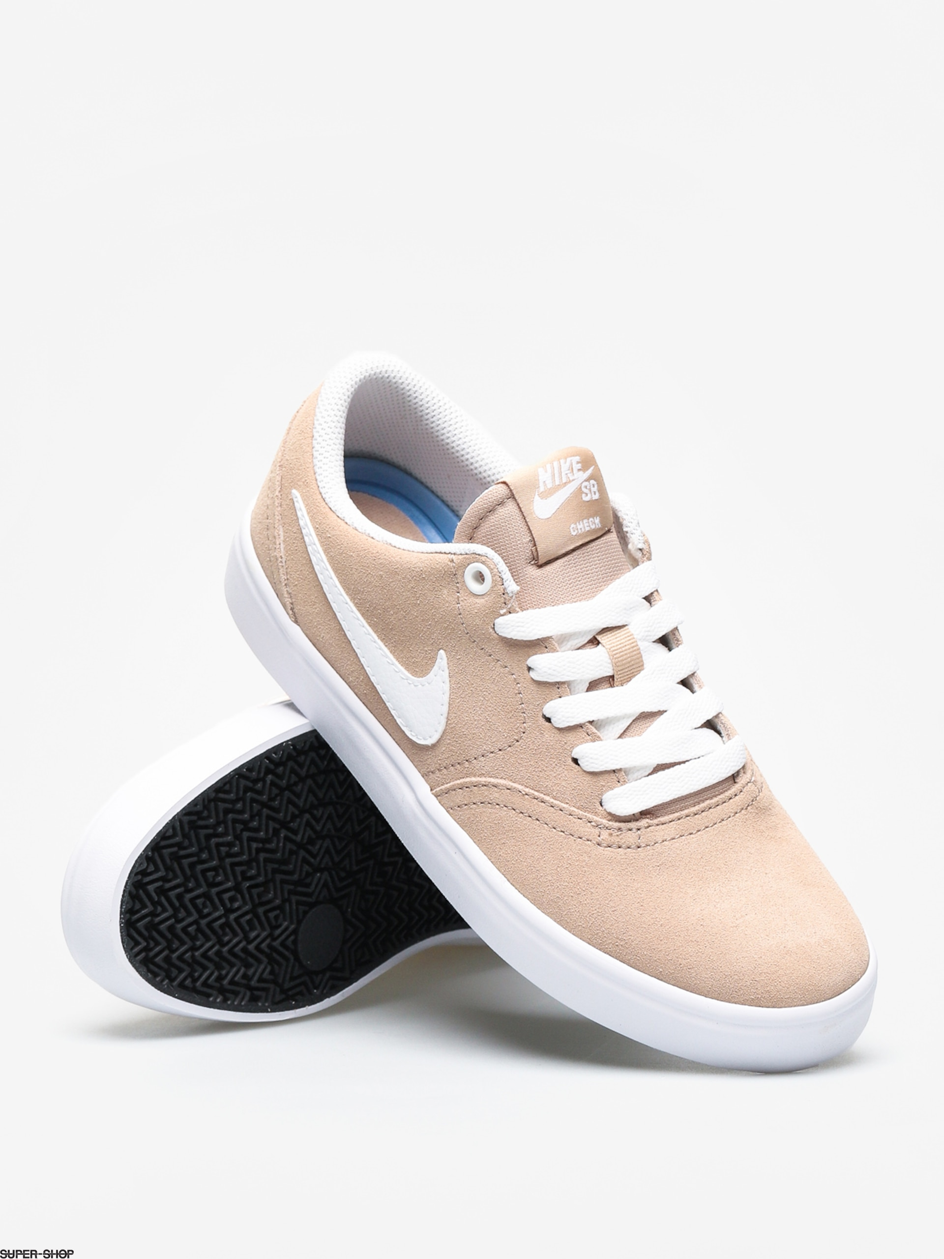 Nike SB Check Solar Shoes Wmn (bio beige/white)
