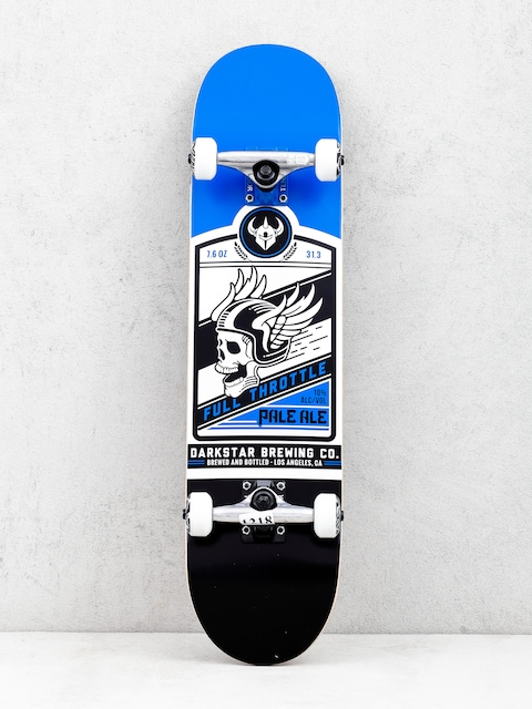 Darkstar Full Throttle Skateboard (blue/black/silver)