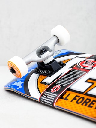 Real New Awol Ovals Mini Skateboard (blue camo/orange)
