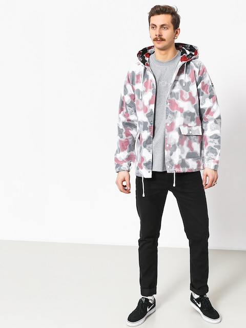 RipNDip Nerm Psycho Clear Rain Coat Jacket (red camo)