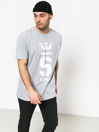 Supra Champ T-shirt (grey heather/wht)