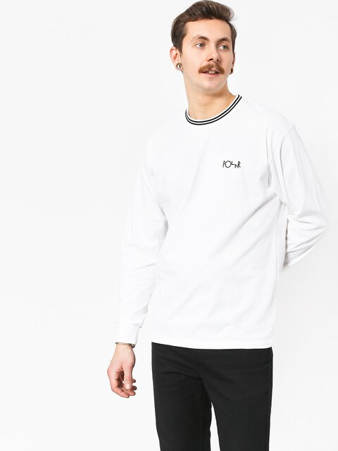 Polar Skate Striped Rib Longsleeve (white/black)