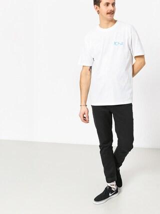 Polar Skate Fill Logo T-shirt (white/pool blue)