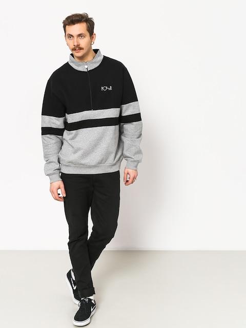 Polar Skate Block Zip Sweatshirt (black/heather grey)