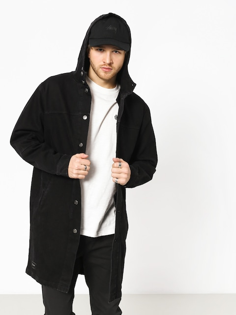 The Hive Płaszcz Denim Parka Coat Jacket (black)