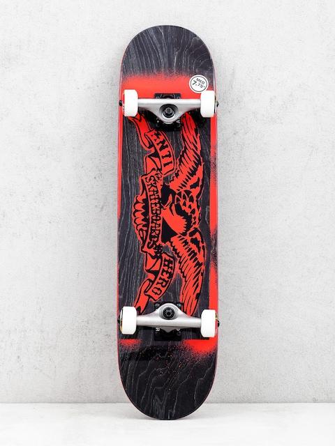 Antihero Stencil Eagle Skateboard (black/red)