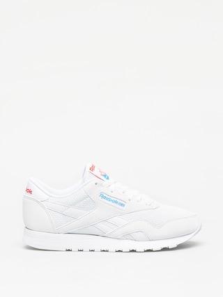 Reebok Cl Nylon Txt Shoes Wmn (white/blue/neon red)