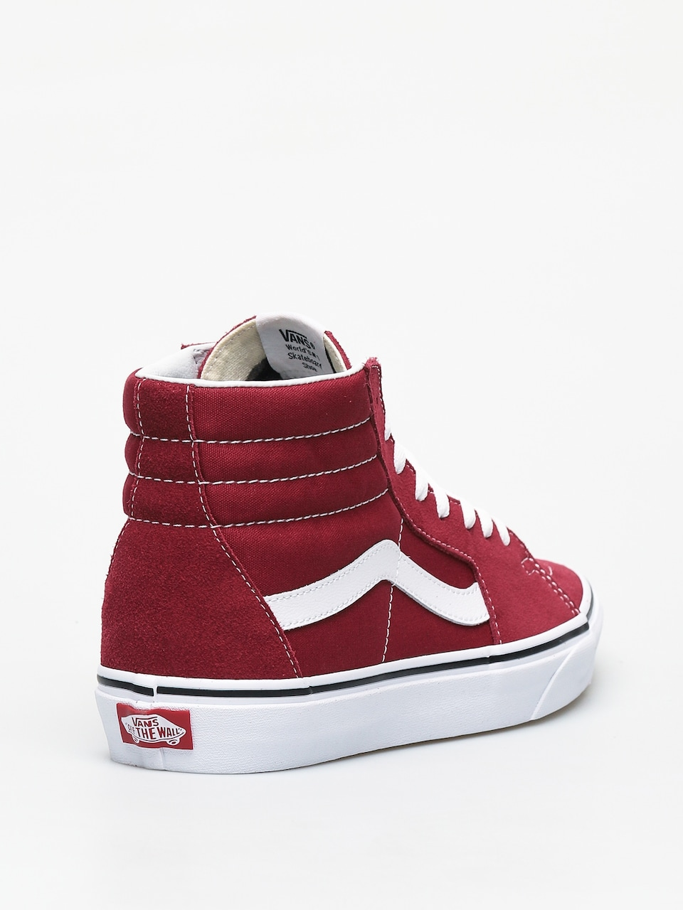 WALL RED & WHT HIGH TOP SKATE SHOES
