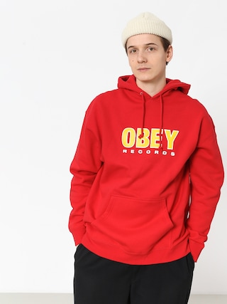 OBEY Obey Records 2 HD Hoodie (red)