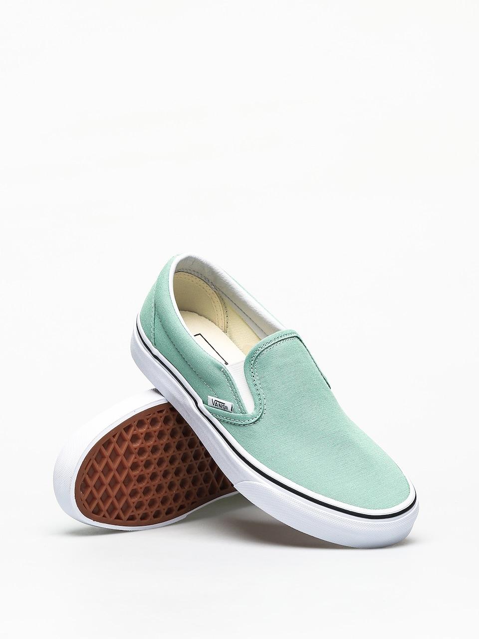 Vans Classic Slip On Shoes (neptune green)