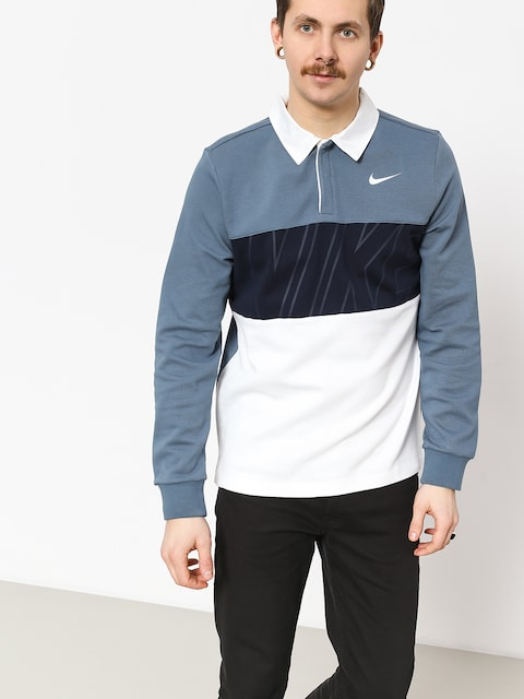 Nike SB Dry Polo t-shirt (thunderstorm/obsidian/white/white)