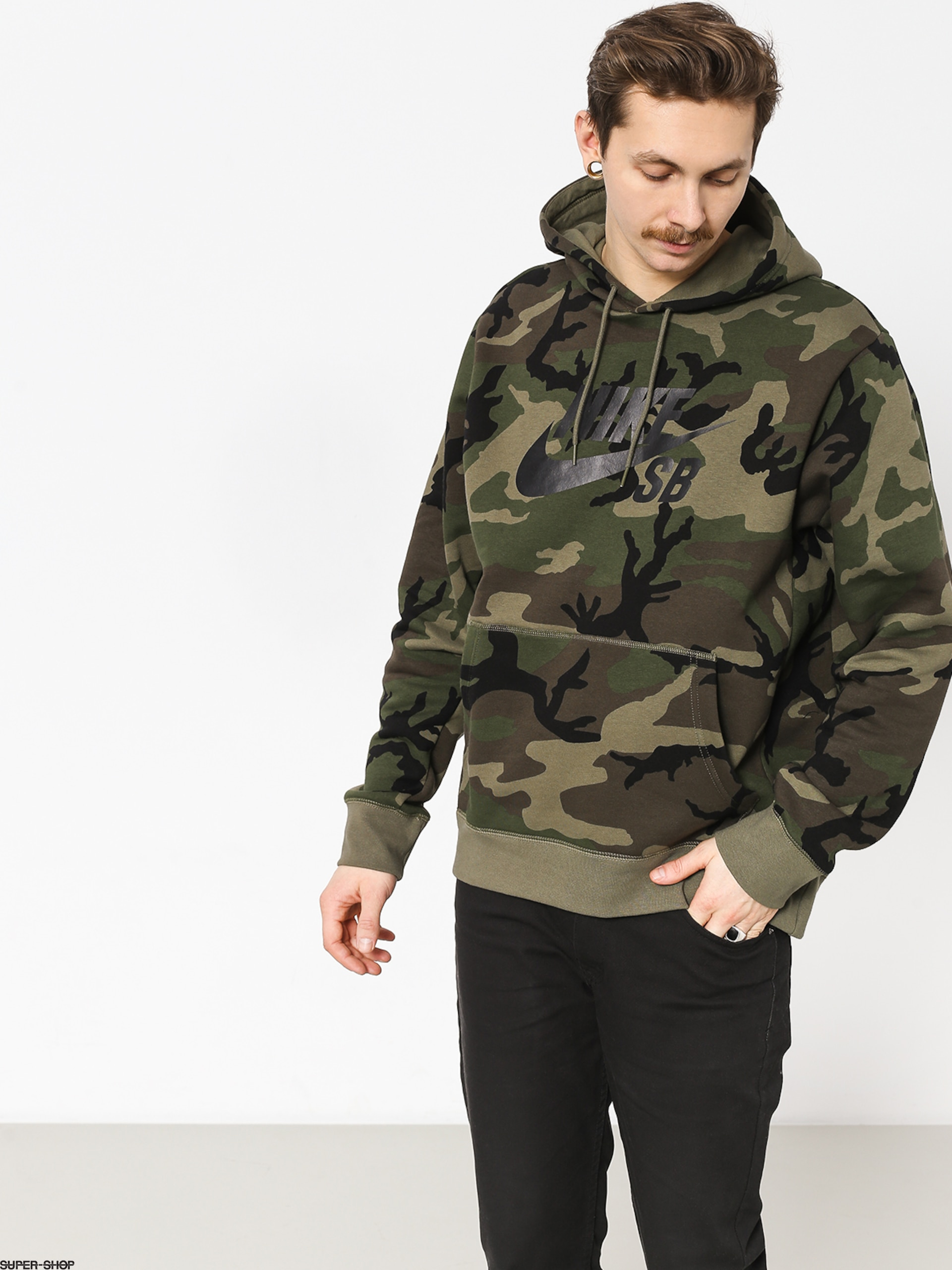 Nike SB Sb Icon Erdl HD Hoodie (medium olivemedium oliveblack)