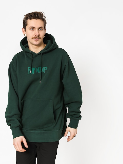 RipNDip Rugger Logo HD Hoodie (hunter green)