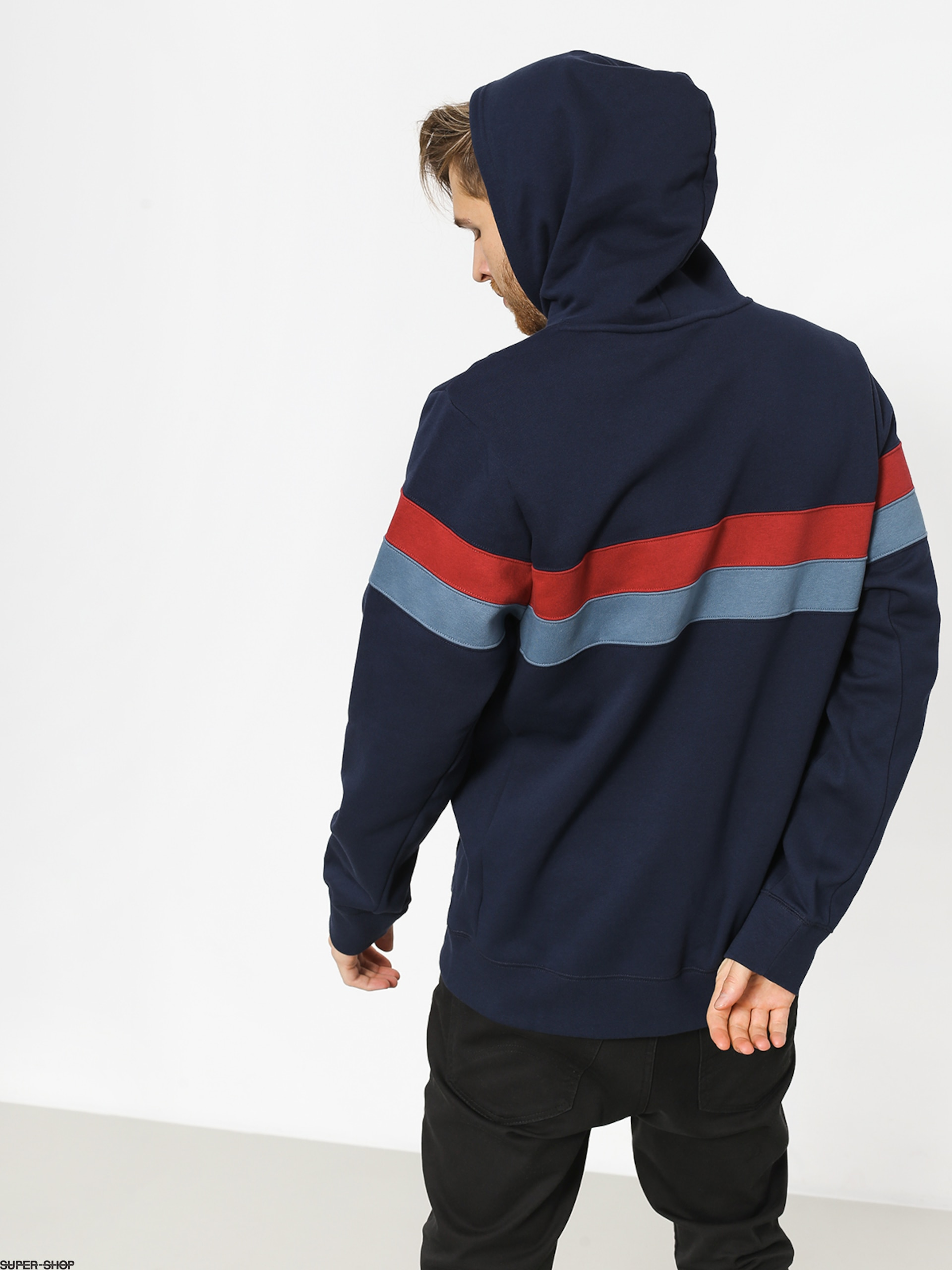 newest 83e5e eff54 Nike SB Sb Icon Stripes HD Hoodie (obsidian team crimson team crimson)
