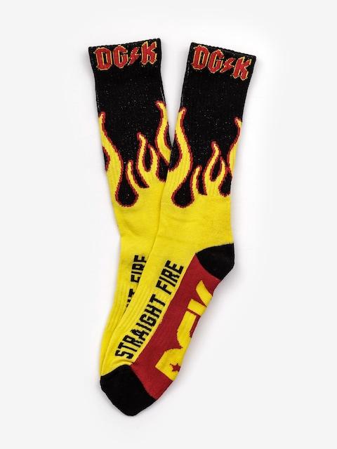 DGK Crew Sock Pair Socks (yellow)