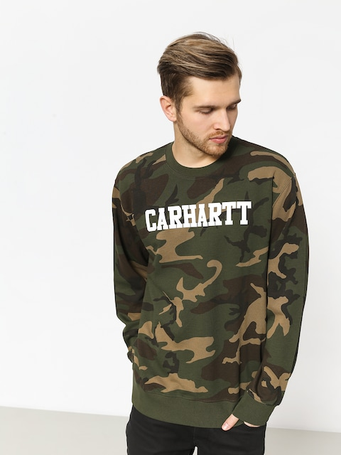 Carhartt WIP Sweatshirt College (camo laurel/white)