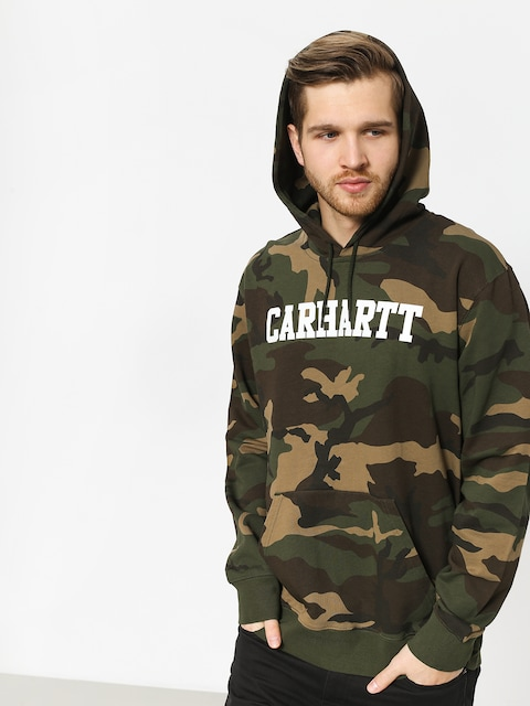 Carhartt WIP Hoodie College HD (camo laurel/white)