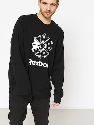 Reebok Ac Ft Big Starcrest Crew Sweatshirt (black/white)