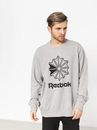 Reebok Ac Ft Big Starcrest Crew Sweatshirt (mgreyh/black)