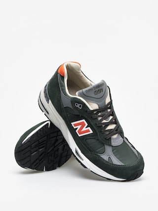 New Balance 991 Shoes (green/orange)