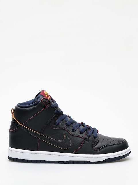 Nike SB Dunk High Pro Nba Shoes (black/black college navy team red)