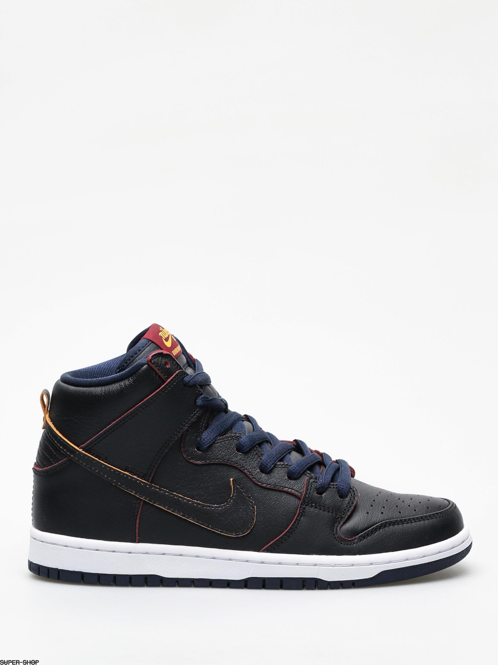 b1441b1b94f Nike SB Dunk High Pro Nba Shoes (black black college navy team red)