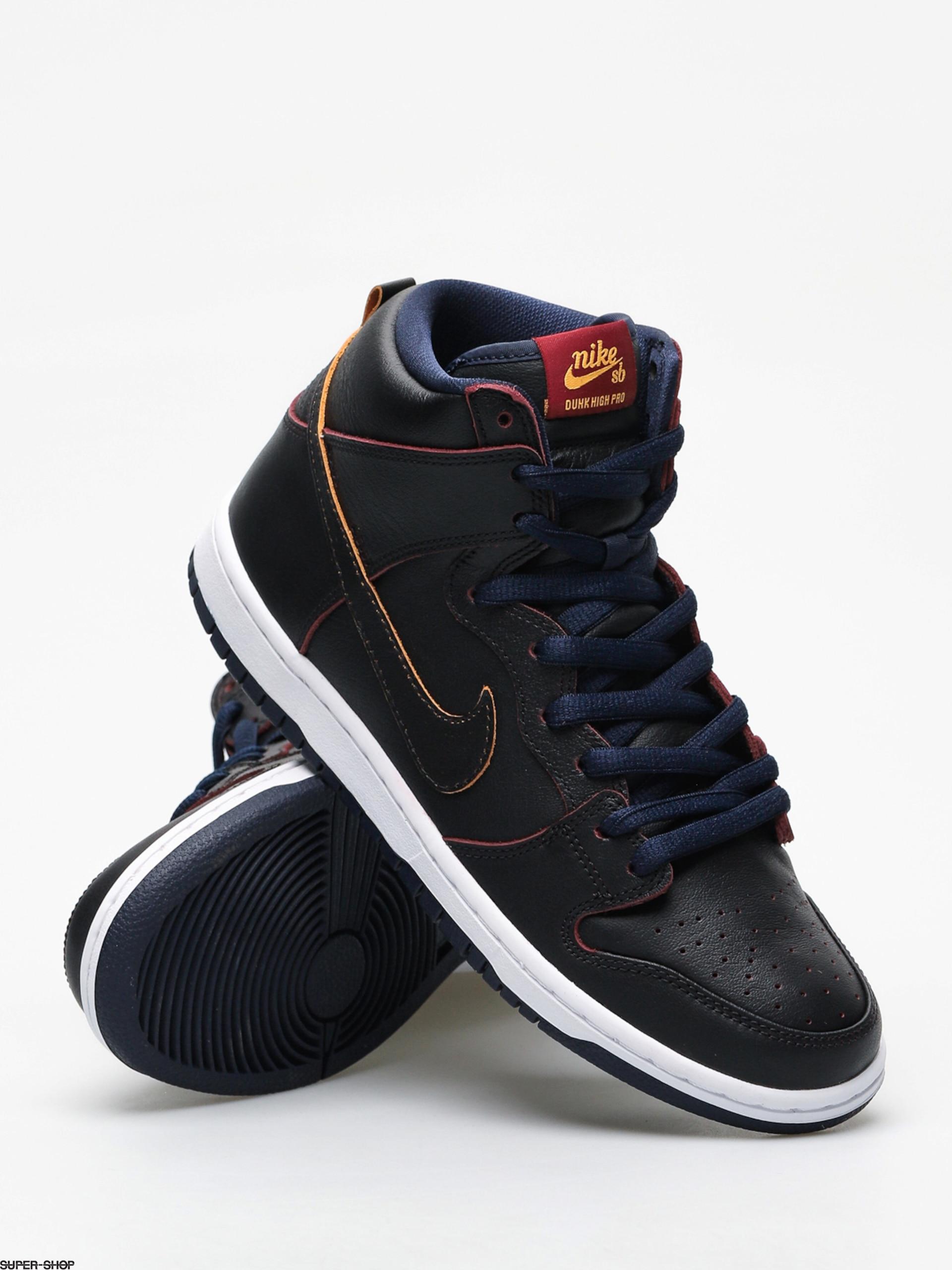 72bfee54f Nike SB Dunk High Pro Nba Shoes (black black college navy team red)