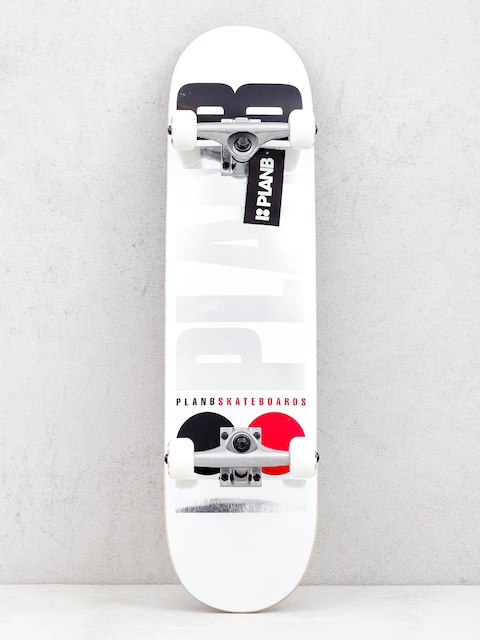Plan B Team Og Skateboard (white)
