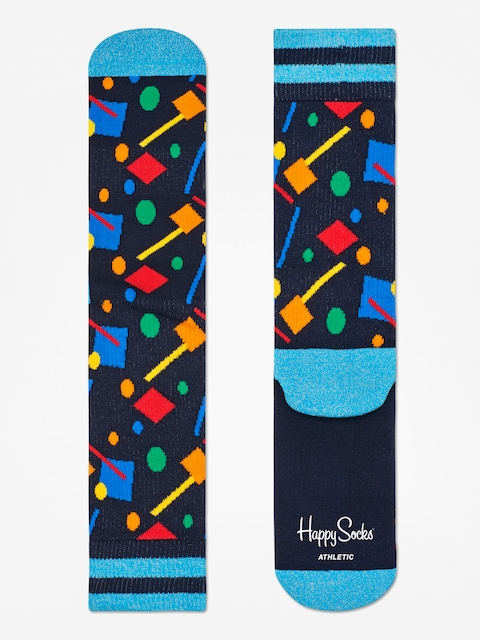 Happy Socks Athletic Confetti Socks (black/blue/multi)