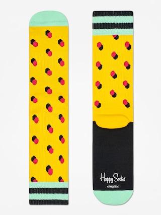 Happy Socks Athletic Shadow Dot Socks (yellow/mint/red)