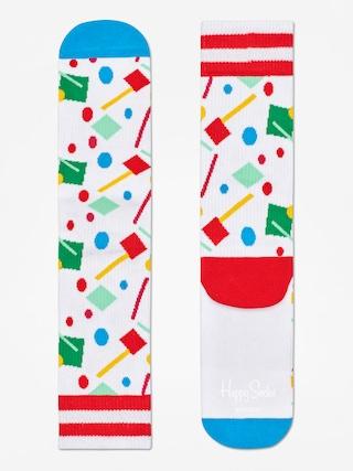 Happy Socks Athletic Confetti Socks (white/blue/multi)