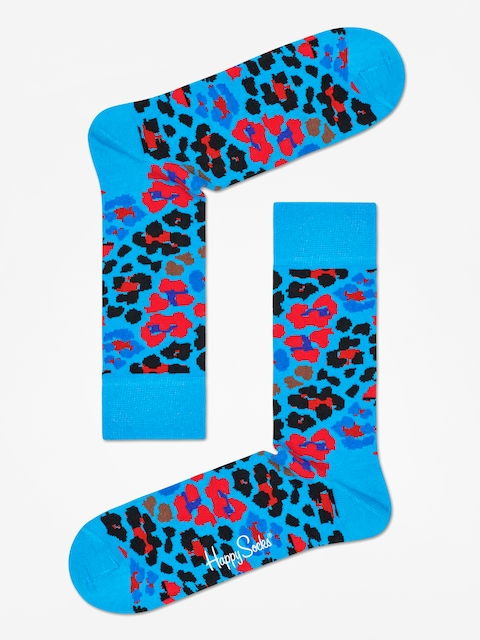 Happy Socks Leopard Socks (blue/red/black)
